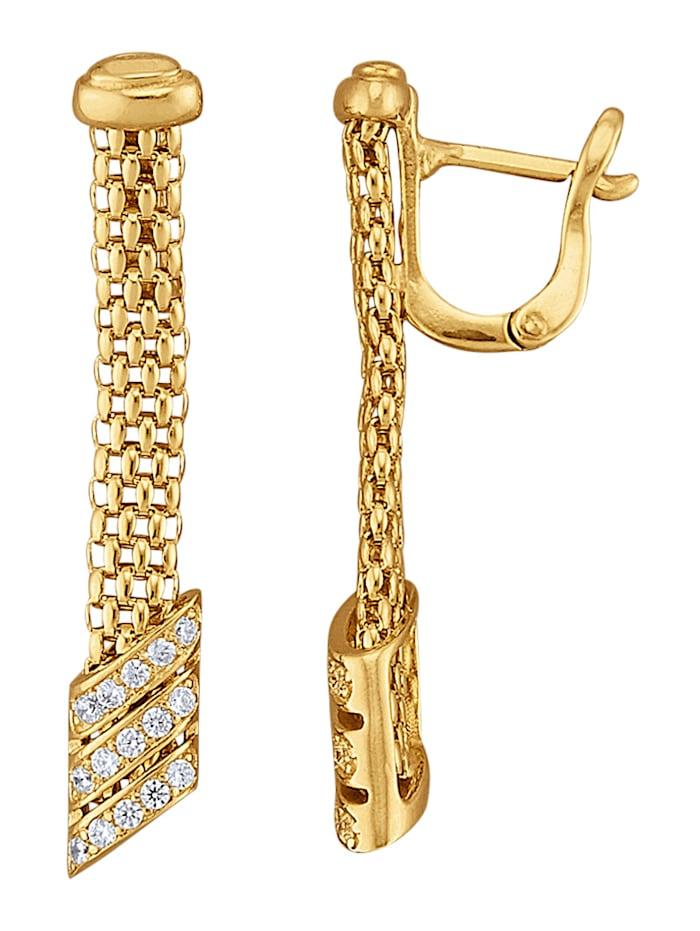 Diemer Trend Ohrringe in Silber 925, vergoldet, Gelbgoldfarben