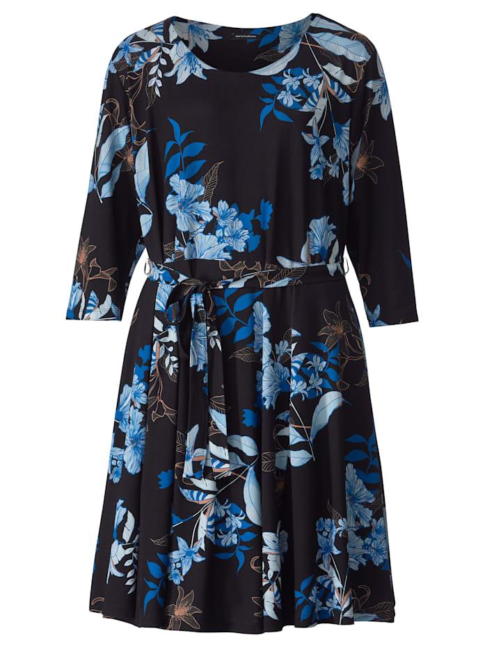 Jersey jurk met afneembare bindceintuur