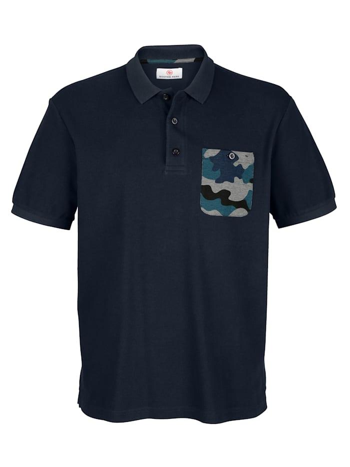Poloshirt mit Camouflage-Druck