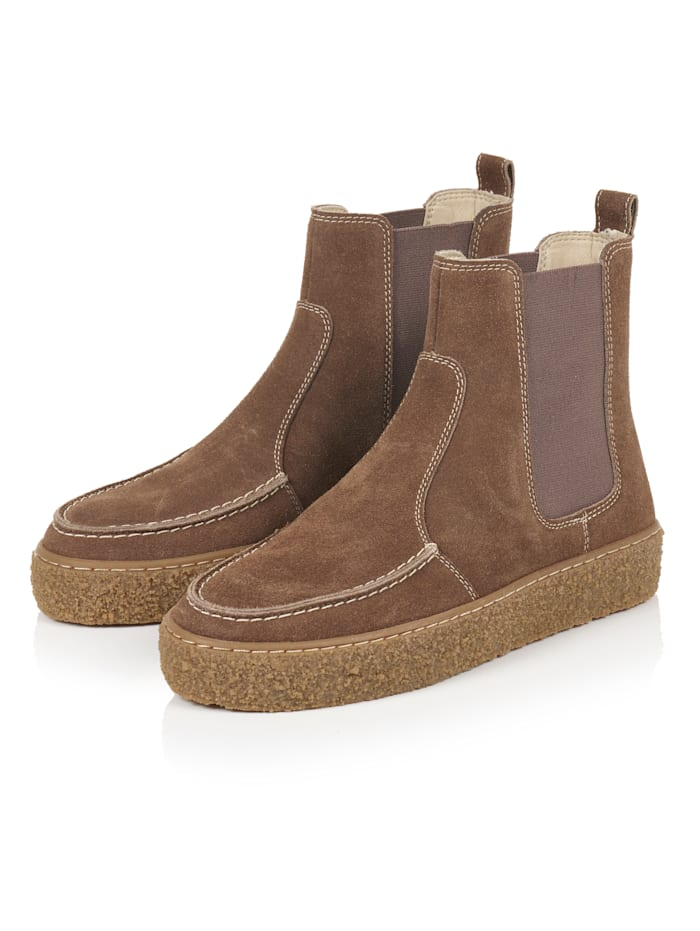 REKEN MAAR Chelsea-Boots, Hellbraun