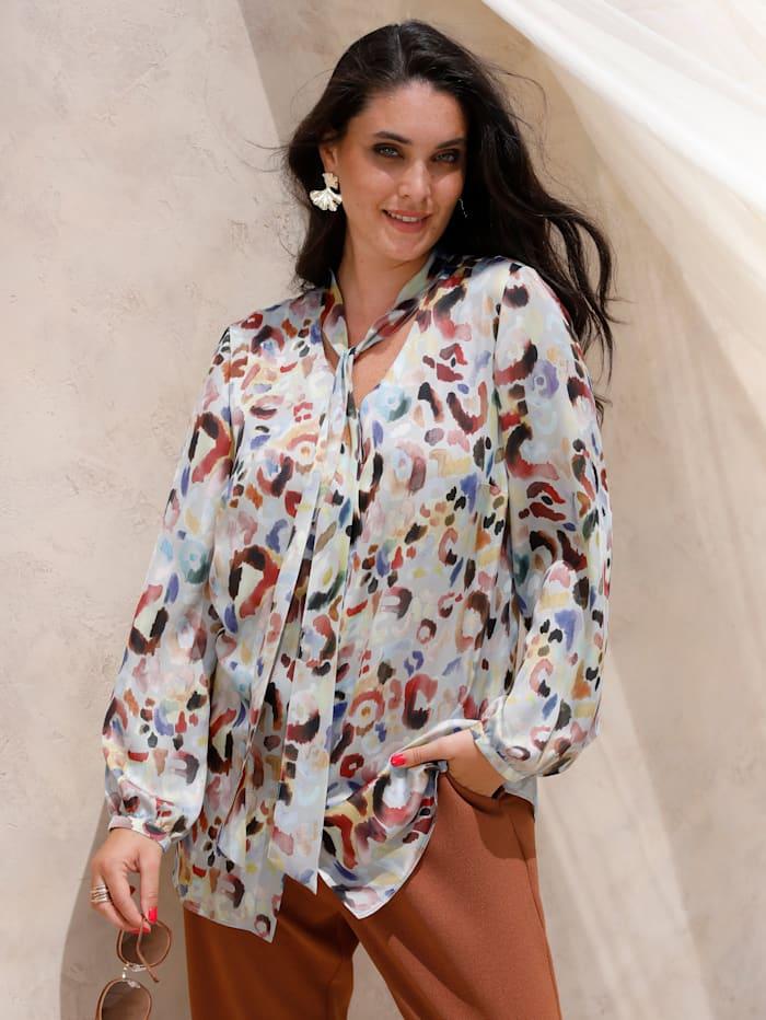 MIAMODA Blouse met sjaalkraag, Multicolor