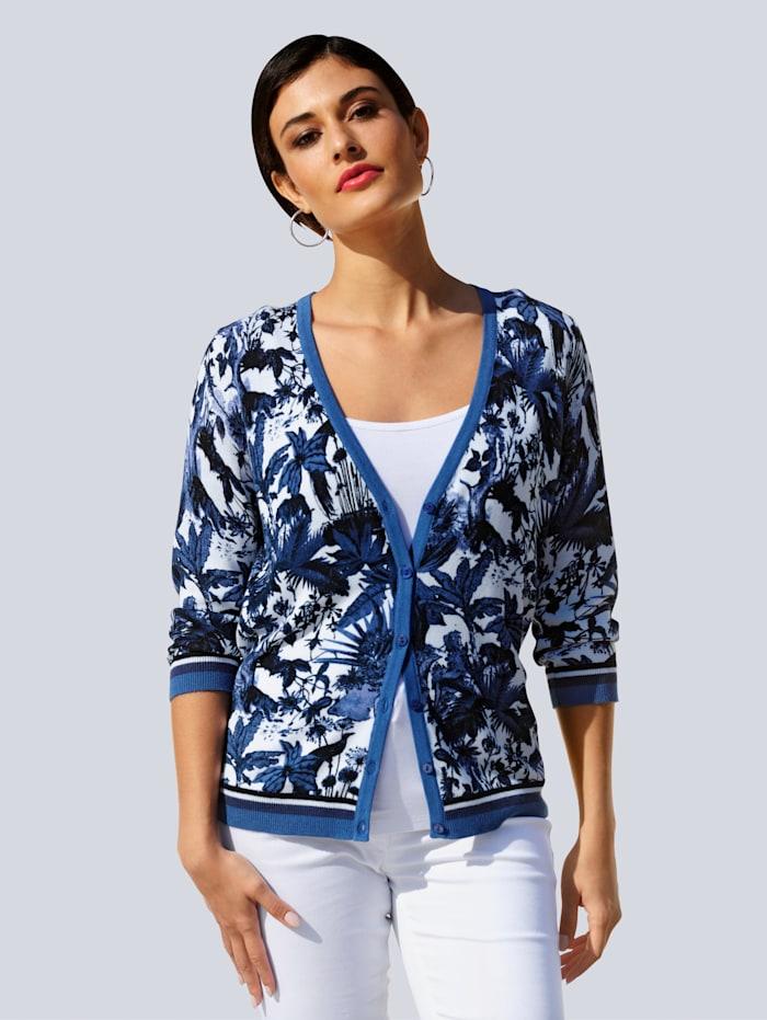 Alba Moda Vest met exclusief ALBA MODA dessin, Blauw/Offwhite