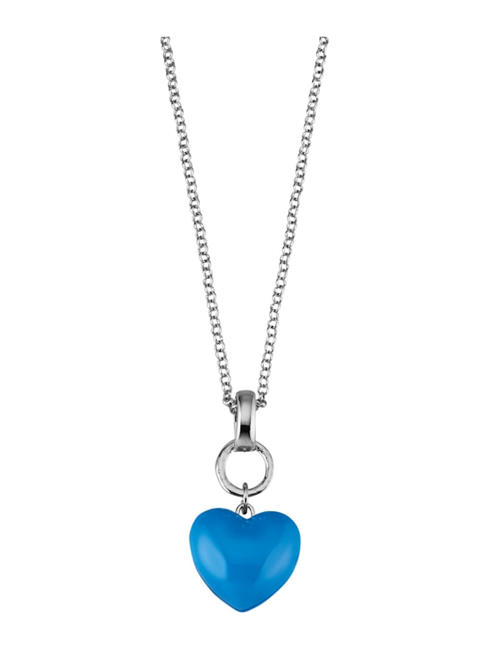 Necklace with pendant, Blue