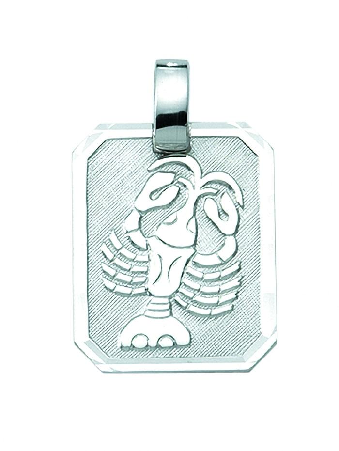 1001 Diamonds Damen & Herren Silberschmuck 925 Silber Sternzeichen Anhänger Krebs, silber
