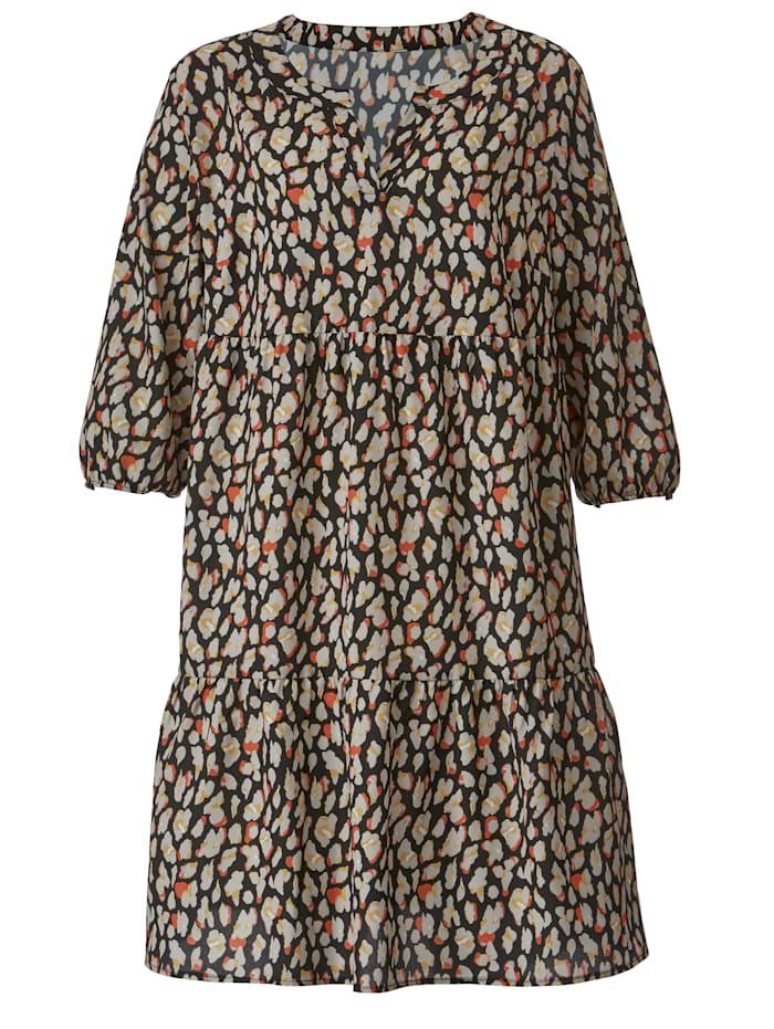 Kleid mit grafischem Druck