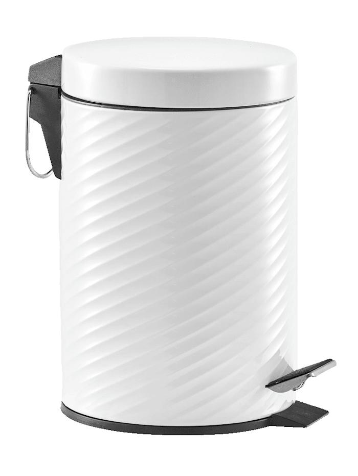 Zeller Treteimer, 3 Liter, Metall weiß, Weiß