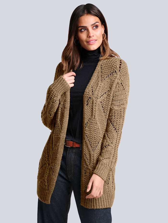 Strickjacke mit Glanzgarn