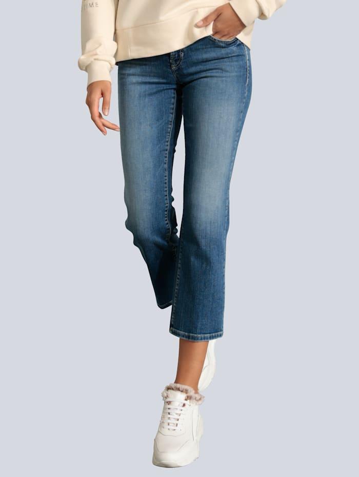 CAMBIO Jeans mit leichter Waschung, Blue stone