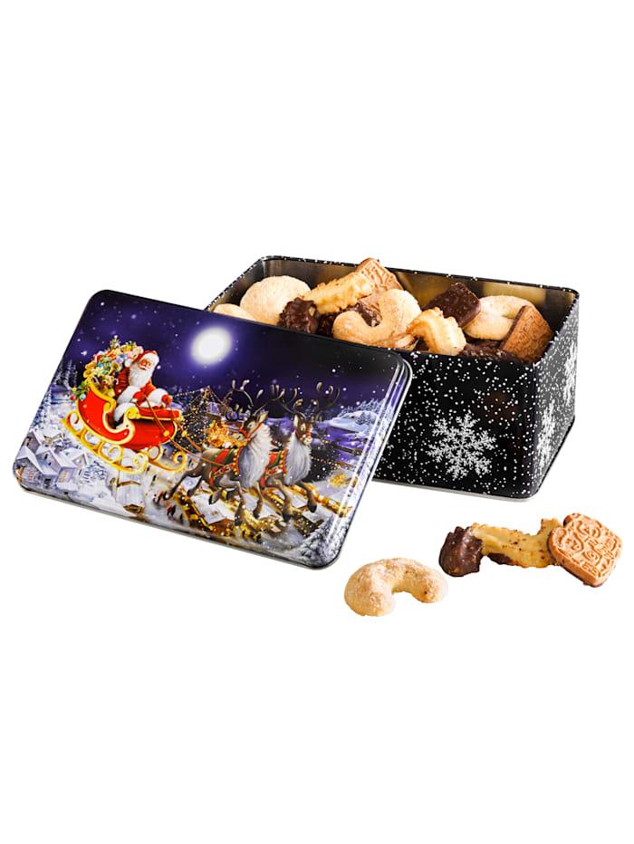 Pfeiffer & Sperl Weihnachts-Gebäckdose, dunkelblau