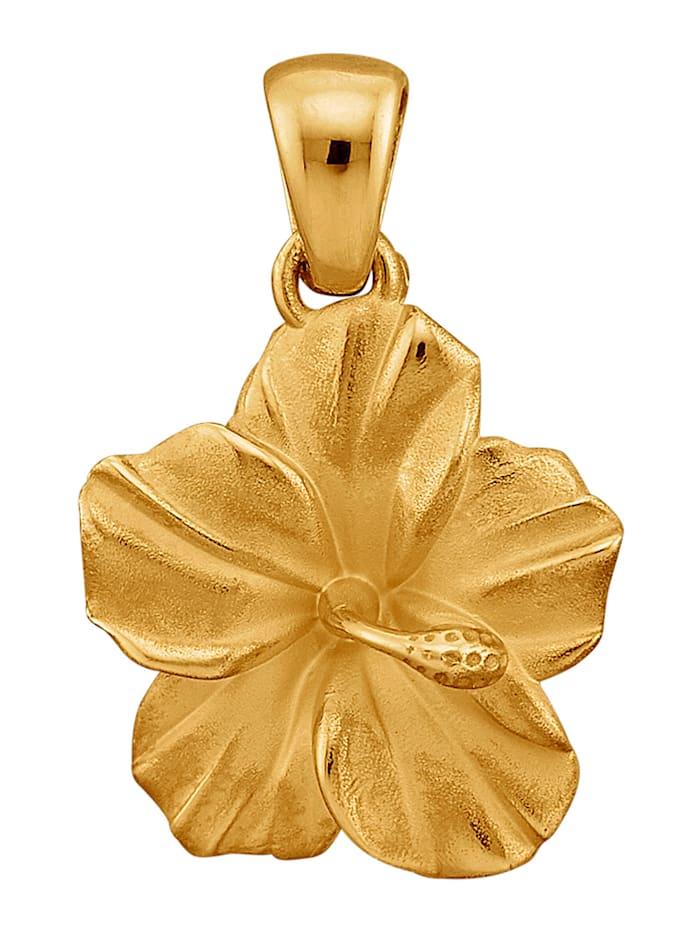 Diemer Gold Blüten-Anhänger in Gelbgold 585, Gelbgoldfarben