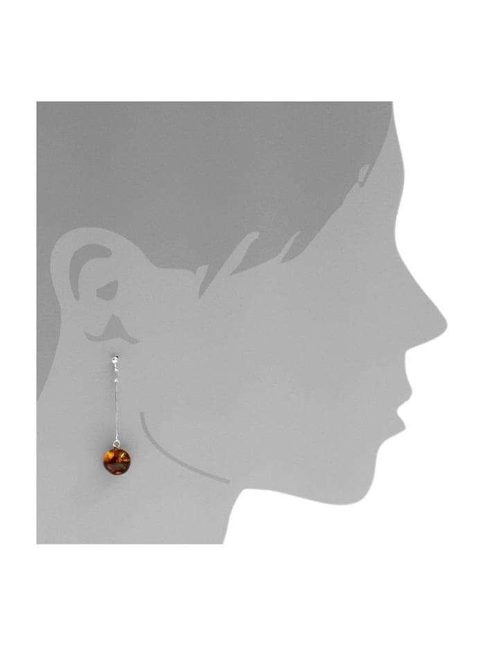 Ohrhänger - Klassisch 9 mm - Silber 925/000 - Bernstein