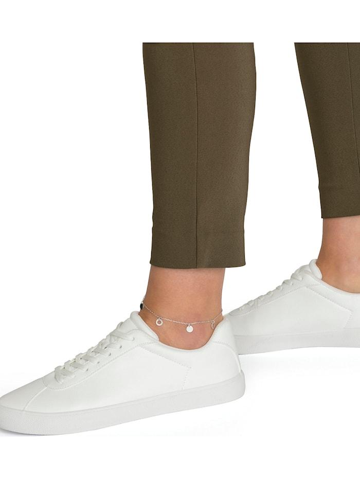 FAVS Damen-Fußkette Kreis 925er Silber rhodiniert