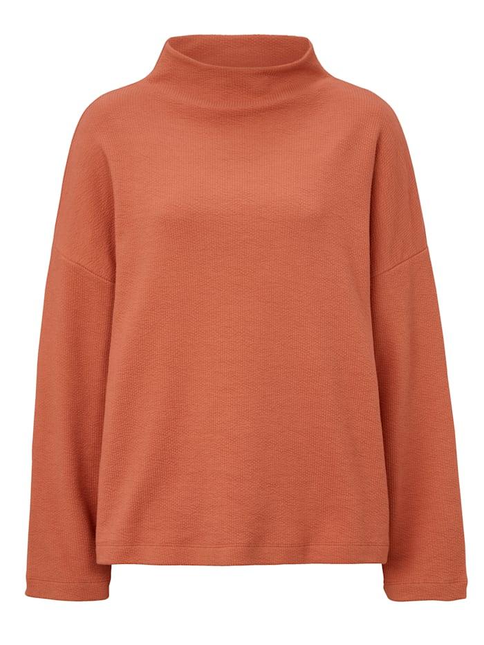 REKEN MAAR Sweatshirt mit Stehkragen und Struktur, Orange