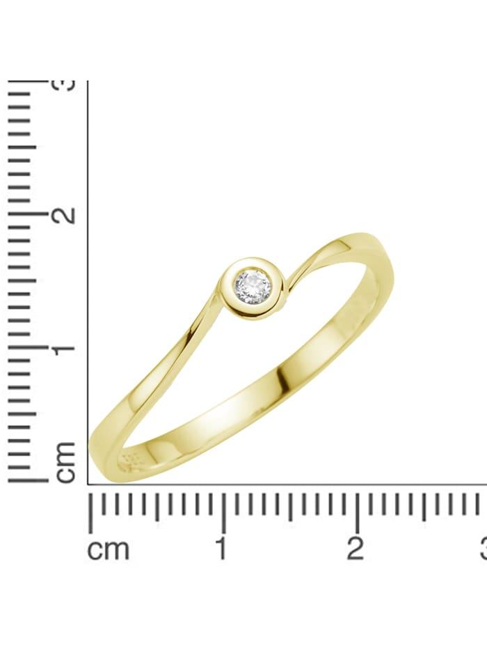 Ring 585/- Gold Brillant weiß Brillant Glänzend 0.06Karat