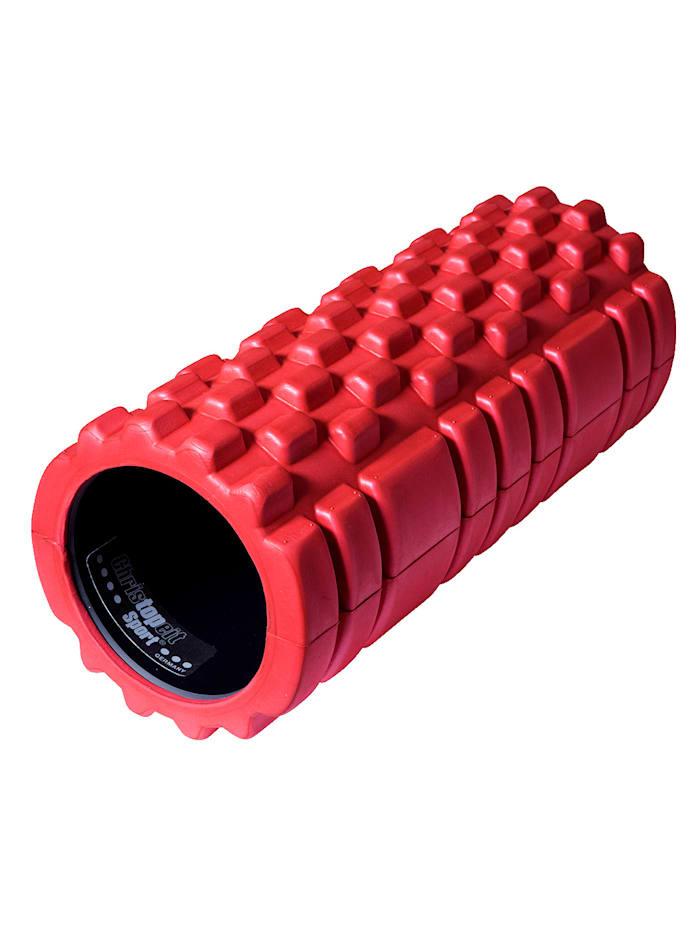 Christopeit Rouleau de massage - permet un massage en profondeur, Rouge