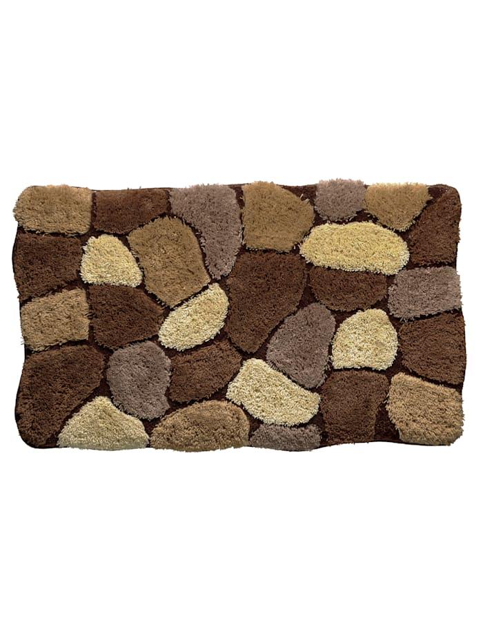 Webschatz Badematteserie -Stone-., brun