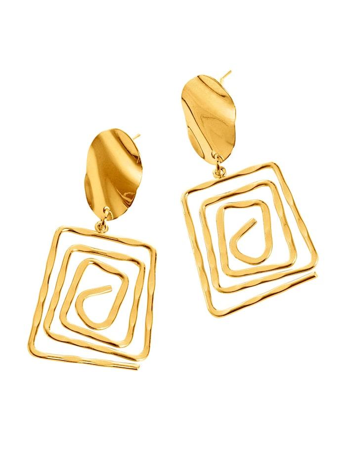 Alba Moda Örhängen i cool design, Guldfärgad