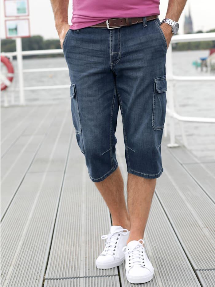 BABISTA Long-Jeansbermuda mit Cargotaschen, Blau
