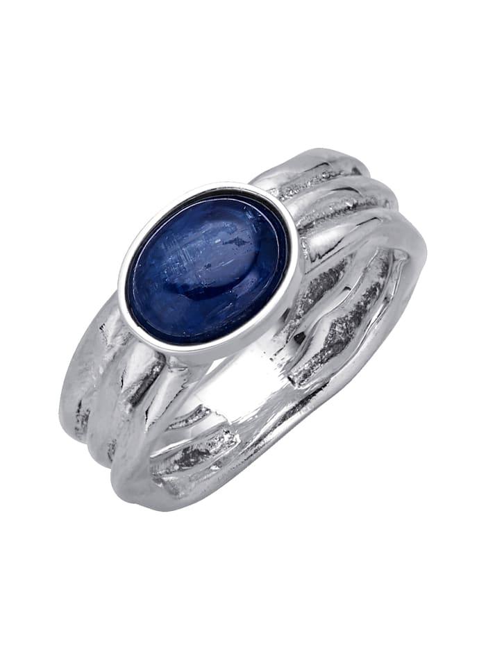 Diemer Farbstein Damenring mit Kyanit, Blau