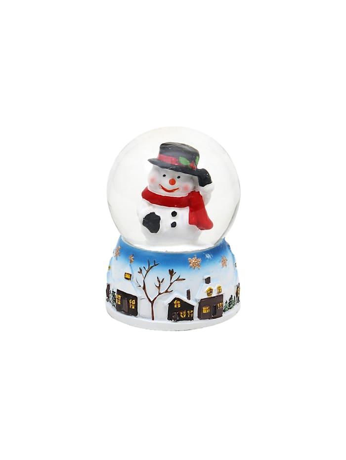 Sigro Schneekugel 1 Stück Weihnachtsmann und Schneemann, Bunt