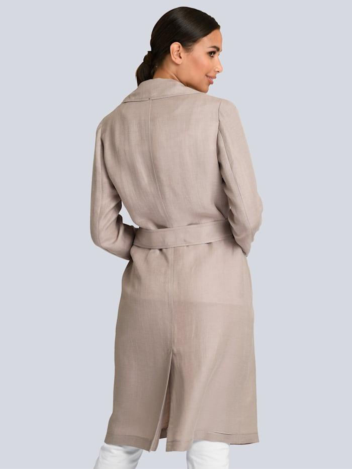 Manteau en lin et cupro mélangés