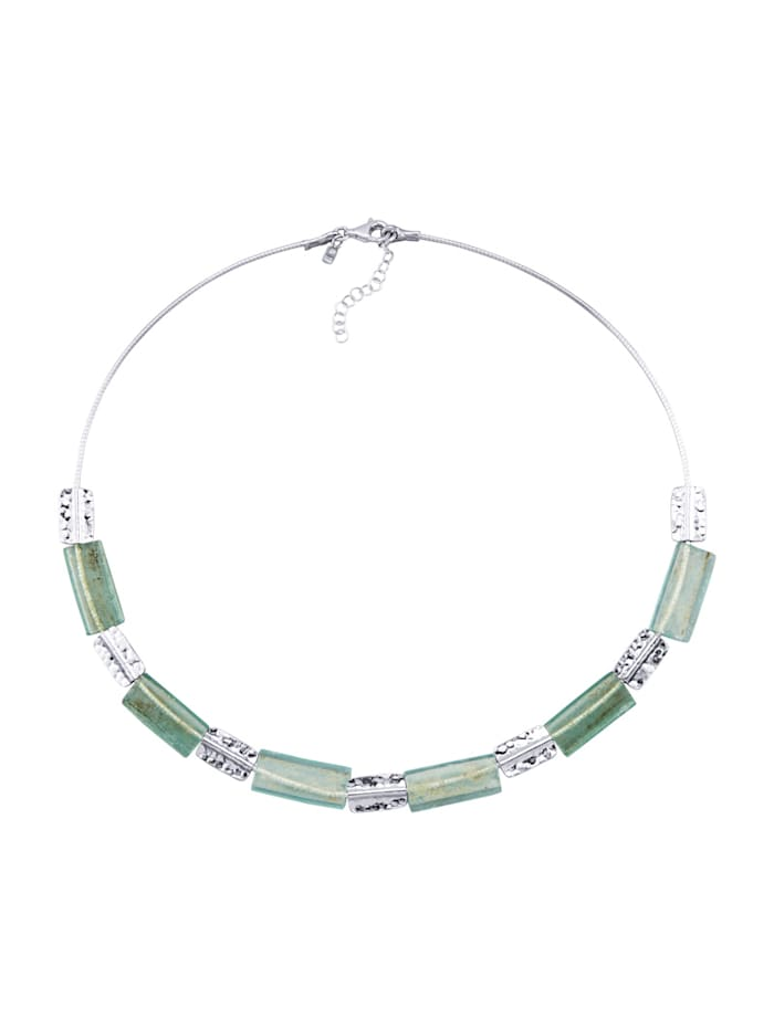 Lasikivikaulakoru – roomalaista lasia, Hopeanvärinen