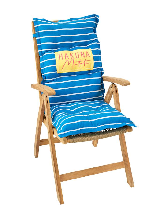 IMPRESSIONEN living Stuhlauflage, blau/weiß