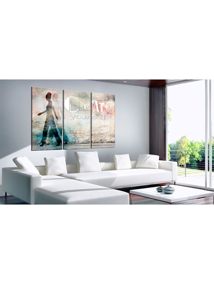 Wandbild Create yourself - triptych