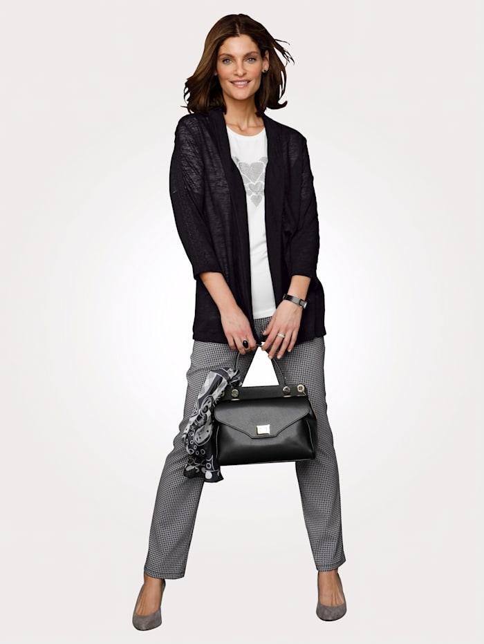 Tričkový kabátik s čipkou na rukávoch