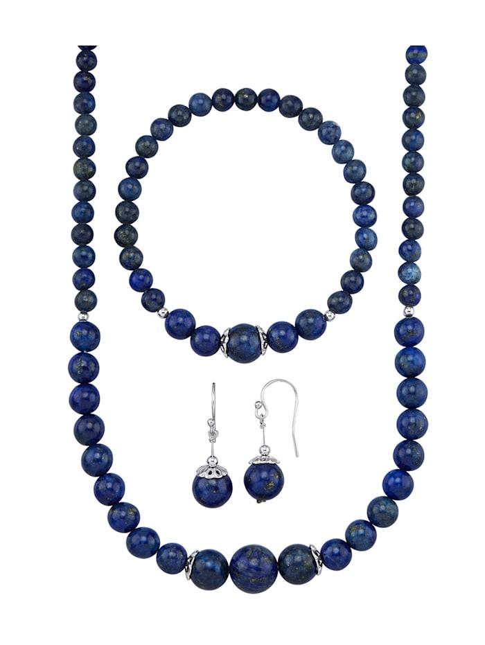 KLiNGEL 3-delige sieradenset, Blauw