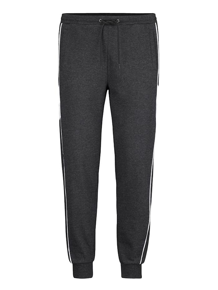 BABISTA Pantalon de loisirs en matière chinée, Anthracite