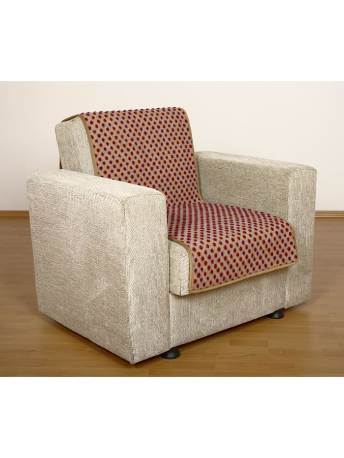 Linke Licardo Sesselschoner Sitzflächenschoner Wolle Noppen ca. 150 x 50 cm beige, beige