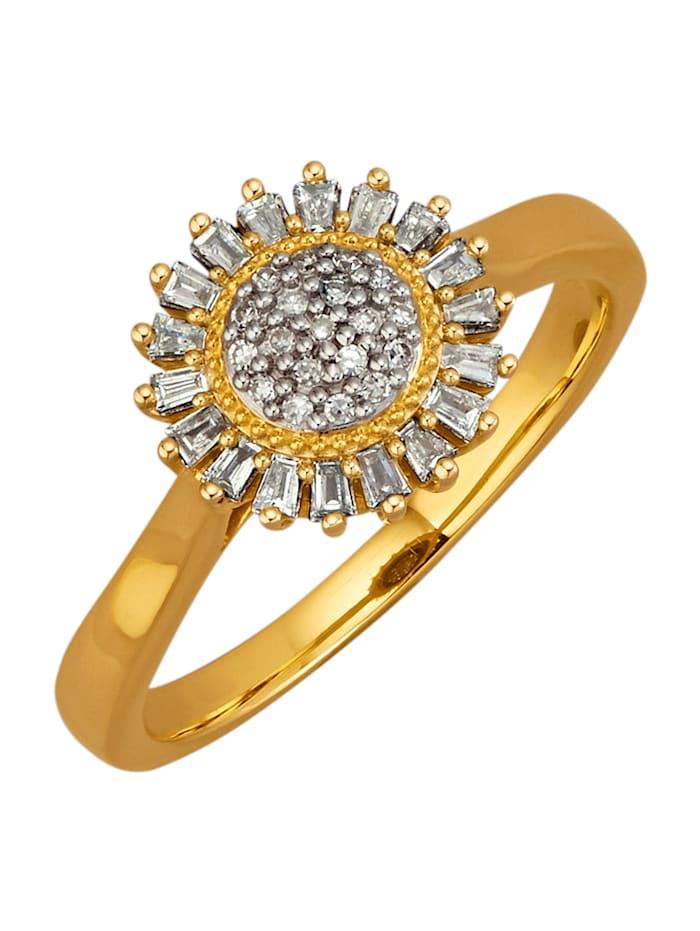 Diemer Diamant Damenring mit 37 Diamanten, Weiß