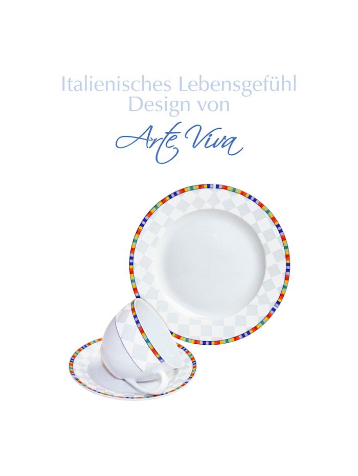 Arte Viva Service à café 18 pièces 'Venezia', Multicolore