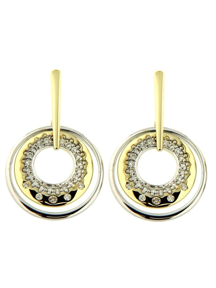 Orolino Ohrstecker 585/- Gold Brillant weiß Brillant 2,15cm Glänzend 0.1500 Karat 585/- Gold, mehrfarbig