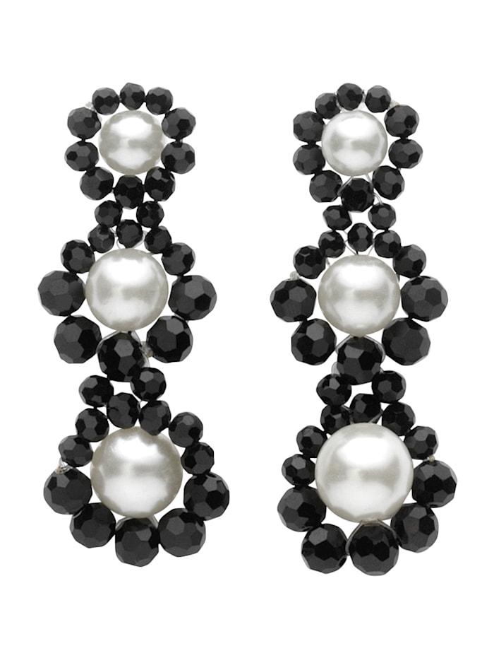 Ohrstecker mit imit. Perlen, Multicolor