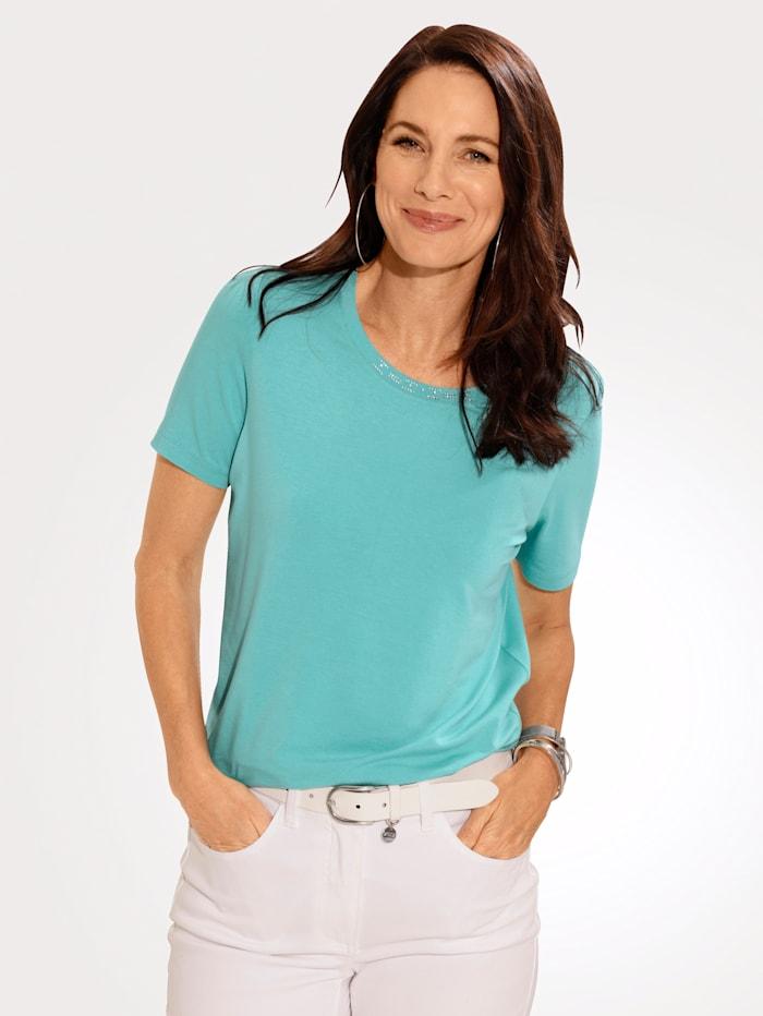 MONA T-shirt en jersey agréable à porter, Turquoise