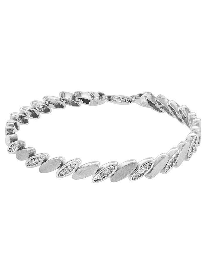 trendor Armband für Damen Silber 925 Zirkonia, Silberfarben