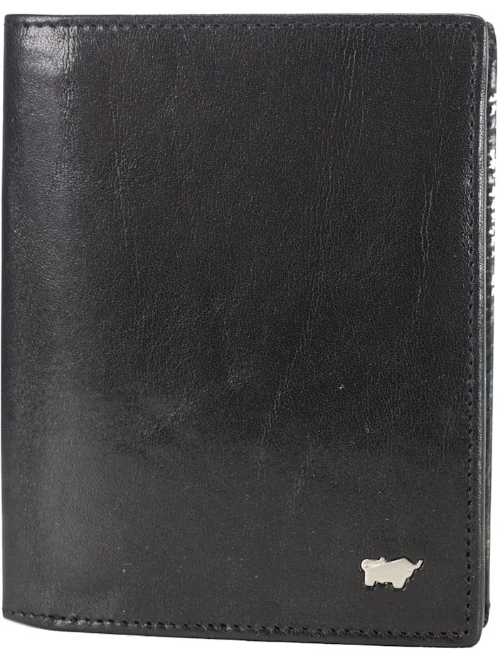Braun Büffel Basic Geldbörse Leder 10 cm, schwarz
