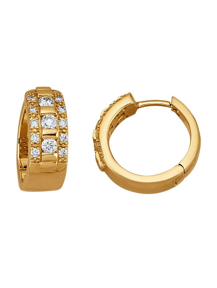 Amara Diamant Klappcreolen mit lupenreinen Brillanten, Gelbgoldfarben
