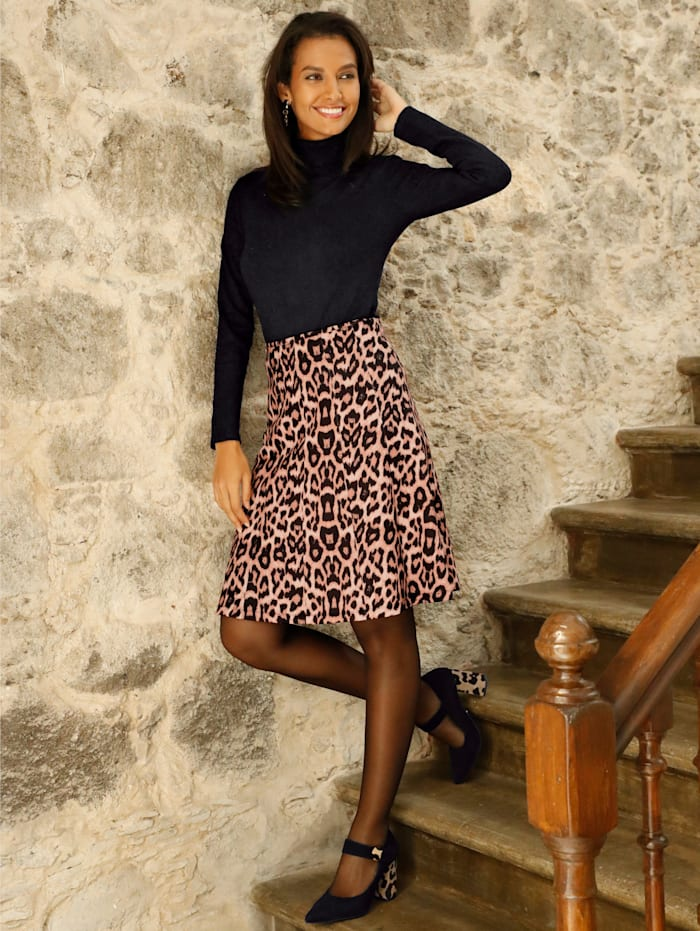 Kjol med leopardmönster