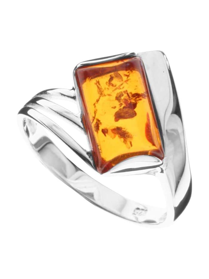OSTSEE-SCHMUCK Ring - Astrid - Silber 925/000 - Bernstein, silber