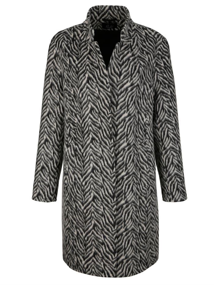Krátky kabát s vlnou