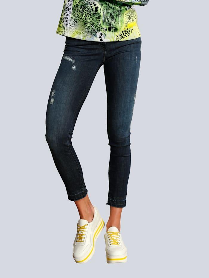 SPORTALM Jeans im Used-Look, Dunkelblau