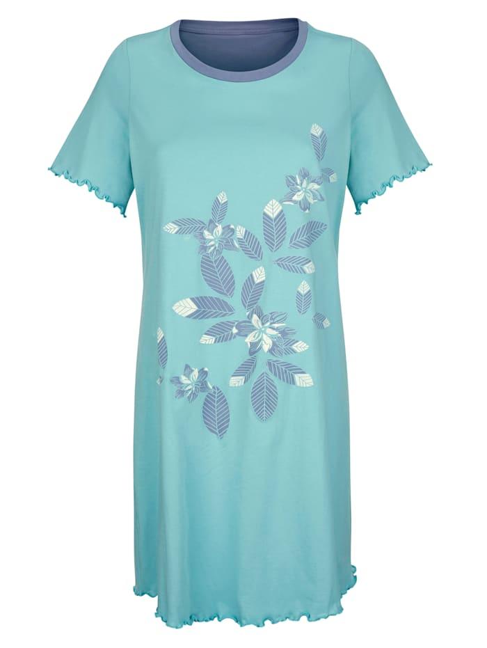 Nachthemden im 2er-Pack mit hübschen Wellensaumabschlüssen