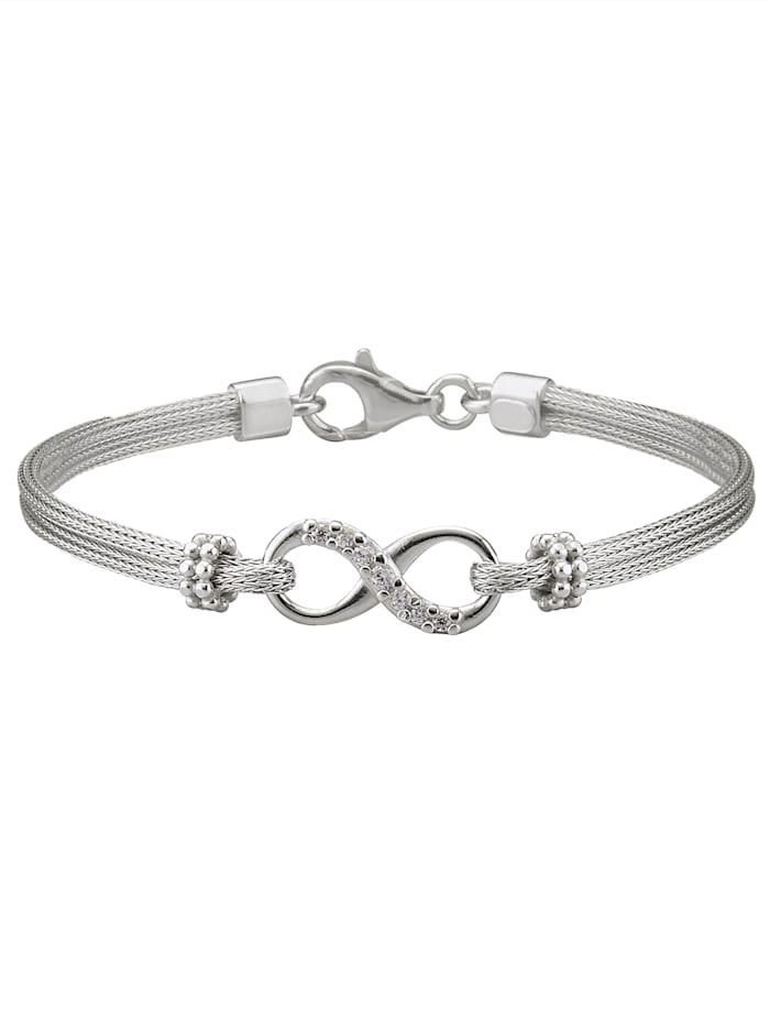 2-rijige infinity-armband, Zilverkleur