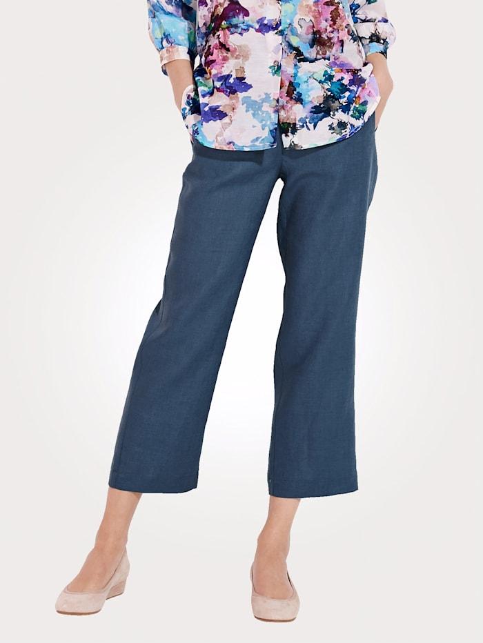 Pantalon en lin avec ceinture montée