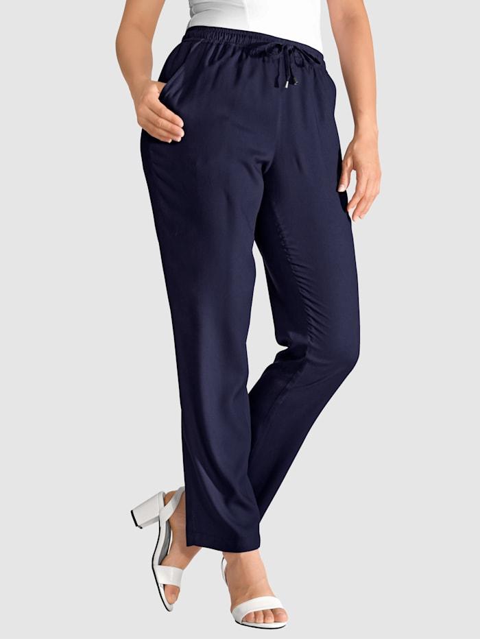 m. collection Pantalon à cordon de serrage, Marine