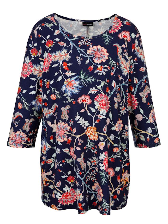 Shirt mit edlem Blumendruck