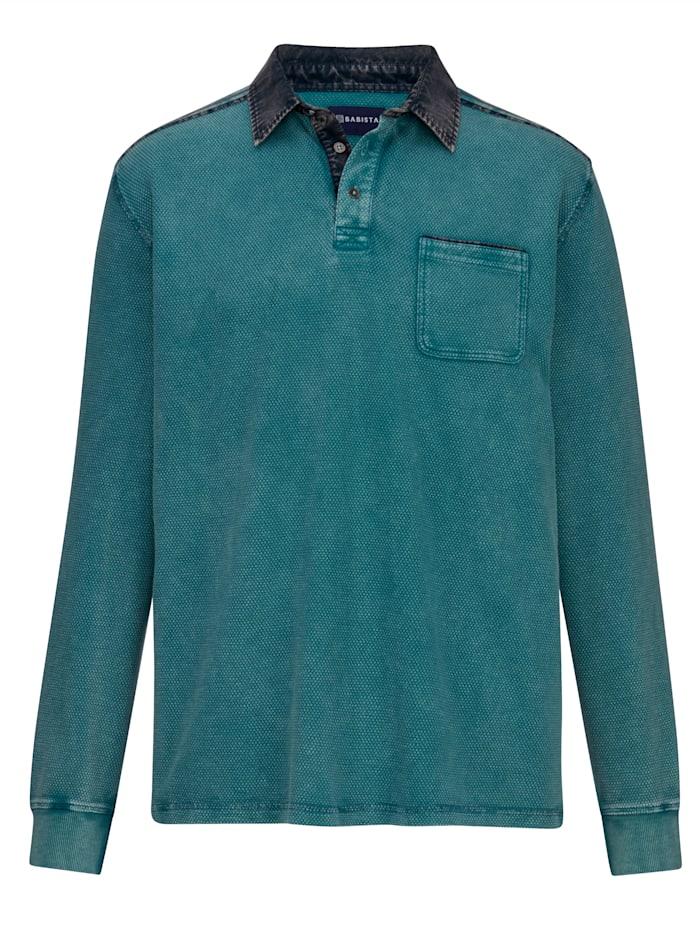 BABISTA Sweatshirt Garment washed & dyed, Petrol